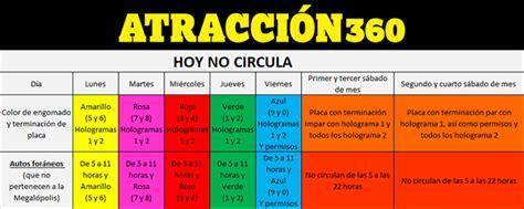 calendario del hoy no circula fase 1 como queda el hoy no circula normal calendario semestral