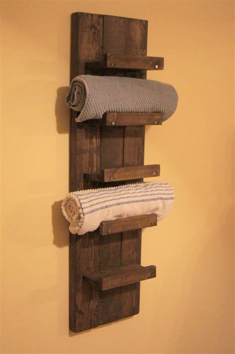 Bathroom Towel Racks And Shelves Towel Rack Bathroom Towel Shelf Bathroom Towel By Madisonmadedecor