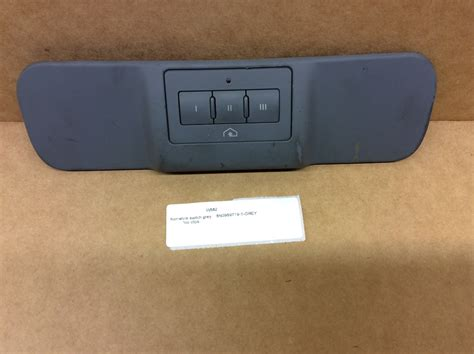 Homelink Overhead Door 2003 Audi Tt Homelink Garage Door Opener Switch Grey Missing 8n0959719 Ebay