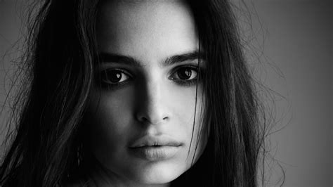 wallpaper black and white faces emily ratajkowski black n white sad face closeup wallpaper