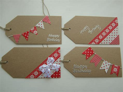 Handmade Gift Tags Ideas - washi crafty weekend craft projects for the weekend