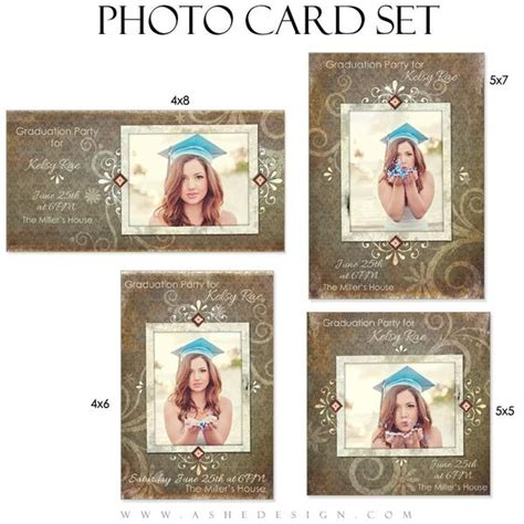 4x8 photo cards templates senior photo cards shabby chic ashedesign