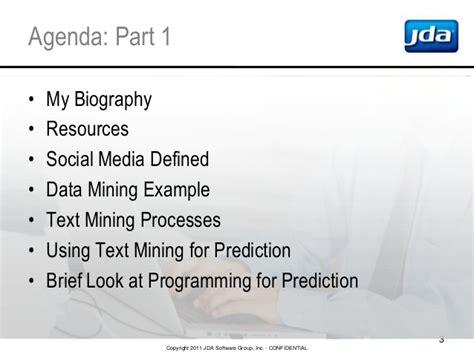 biography text mining agenda part 1 my biography