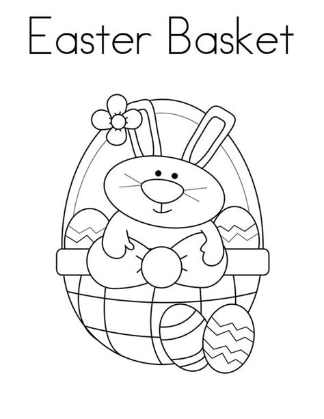 coloring page of an easter basket easter day coloring pages coloring pages ideas reviews