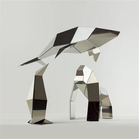 Polygon Paper Folding - poligon folded sculpture fubiz media