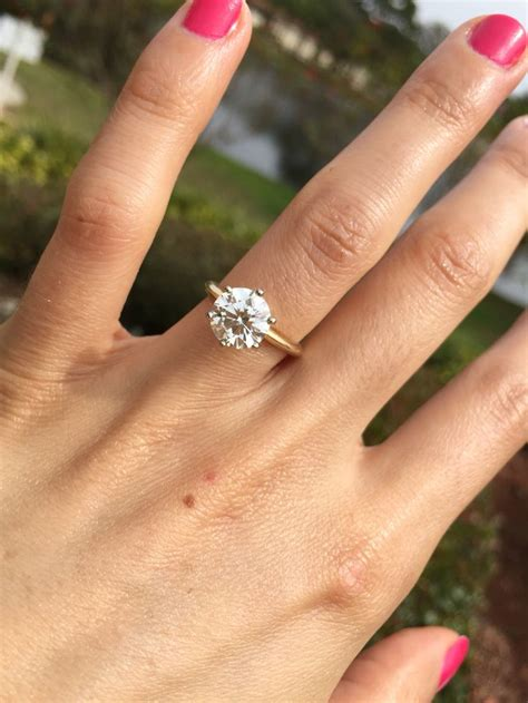 my engagement ring brilliant solitaire 6 prong 14k