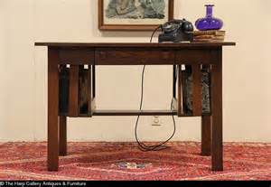 arts crafts mission oak antique 1905 library table