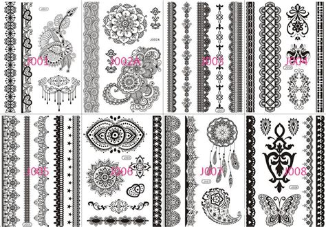 temporary tattoo sticker 80 kinds new diy bridal black