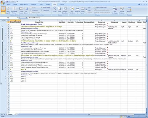 excel corrective action plan template action plan
