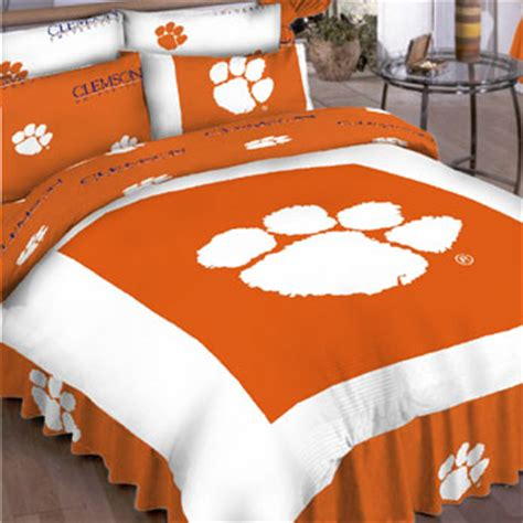 clemson bedding clemson tigers full bed in a bag