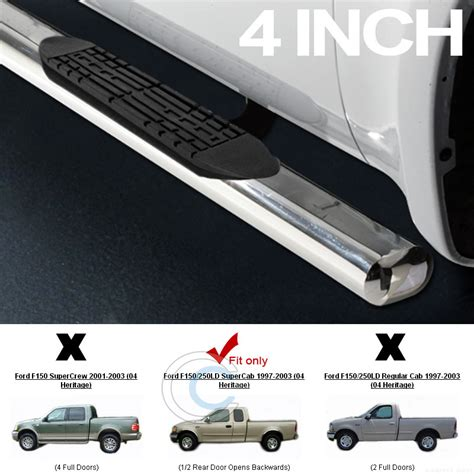 top rated nerf bars 4 quot s s hd chrome side step nerf bars rail running board 97