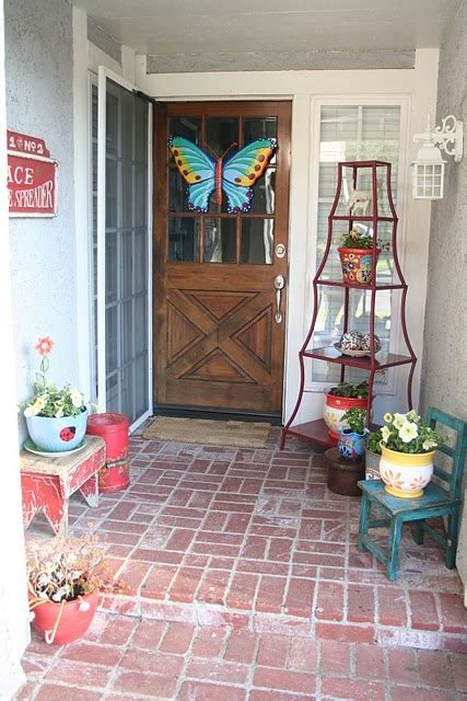 ideas of striking entryway decor striking spring porches doors and entryways jenna burger