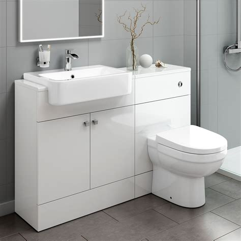 1160mm white bathroom vanity unit sink and toilet furniture mv2002 ebay