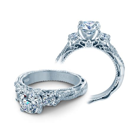 King Engagement Ring Shopping by Verragio Engagement Rings 5013r 4 Gld 0 45ctw Setting