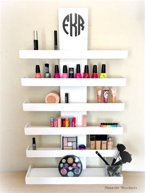 Shelf For Makeup by Wall Mounted Makeup Shelf Makeup Organizer Nail