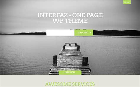 interfaz wordpress one page theme wordpress