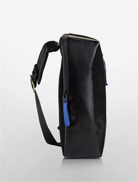 Ck Sling Bag calvin klein logo sling backpack in black for lyst
