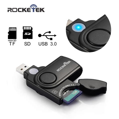 Usb Card 3 0 rocketek usb 3 0 memory card reader for sd card tf micro