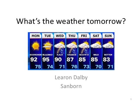 To Be Continued Tomorrow 02 whats the weather tomorrow