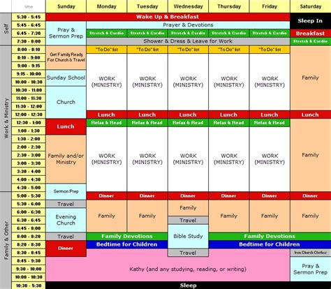 Free Weekly Schedule Template For Anyone Wanting To Take Back Control Of Their Life Charles Specht Personal Schedule Template