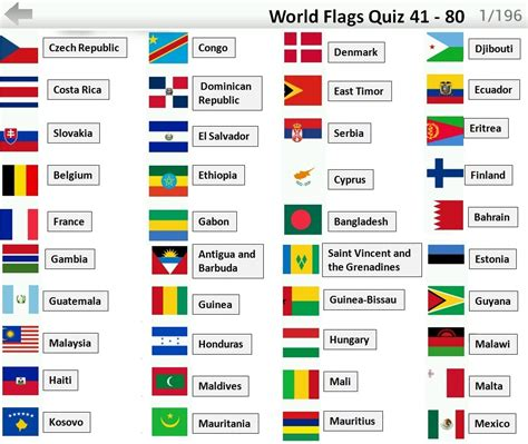 flags of the world quiz game flags quiz answers 41 80 flag quiz android ios game