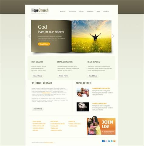 church site templates how to build a church website from a template