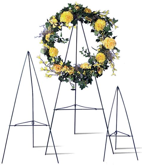 green wire easel stand cemetary wreath funeral display