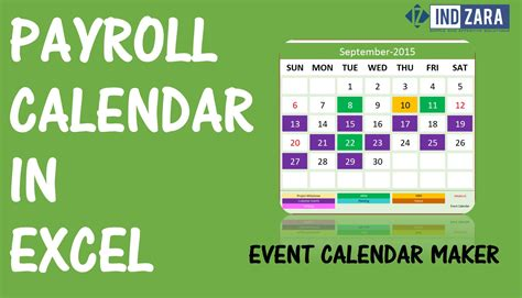 Payroll Calendar Using Event Calendar Maker Excel Template Youtube Excel Payroll Calendar Template