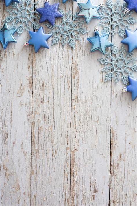 photo  border  blue ornaments  rustic white wood