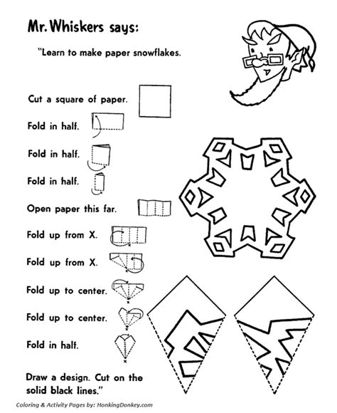 Cut Snowflakes Activity Sheet Santa Activity Sheet Honkingdonkey