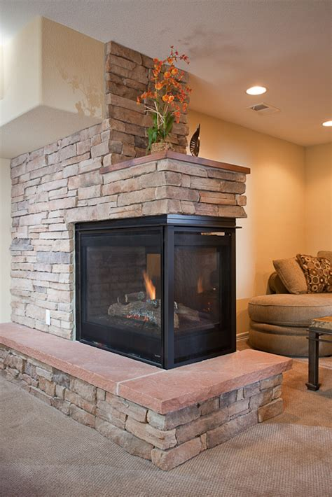 Fireplace Peninsula by Basement Remodeling Fort Collins Basement Renovations