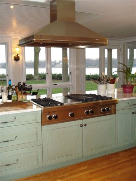 vent hood over kitchen island island cooktop island hood over wolf range top remodel