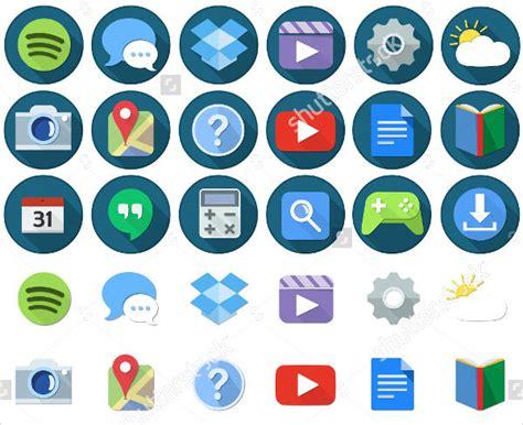 7 android app icons design templates free premium