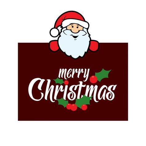 printable santa poster santa claus with a christmas poster vector free download