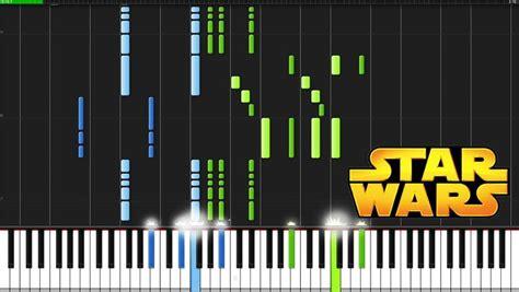 tutorial syntesia keyboard star wars main theme star wars piano tutorial