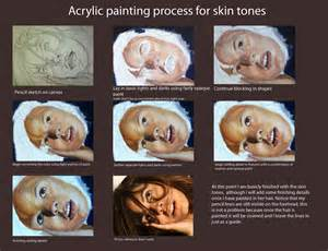 how to make skin color paint ink warrior painting skin tones using acrylic paint