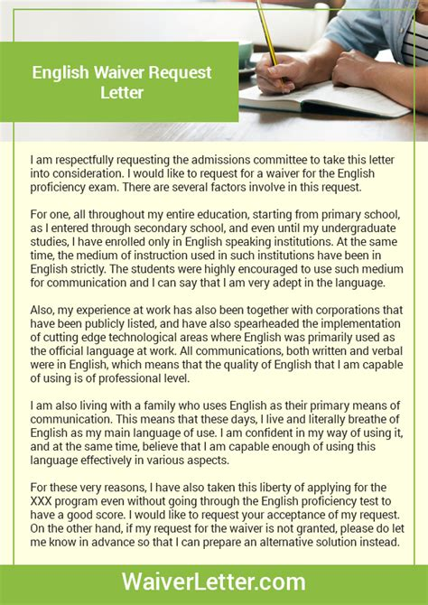 Lipscomb Mba Gmat Waive by How To Write A Waiver Request Letter Sle Cover Letter