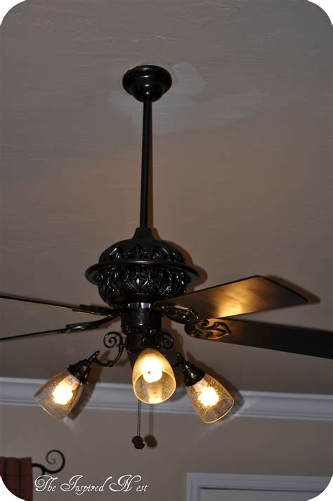 spray paint ceiling fan finding my aloha a ceiling fan makeover by the inspired