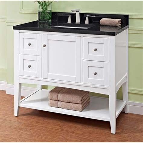 Bathroom Vanity Open Shelf Fairmont Designs Shaker Americana 42 Quot Vanity Open Shelf For 1 1 4 Quot Thick Top Polar White