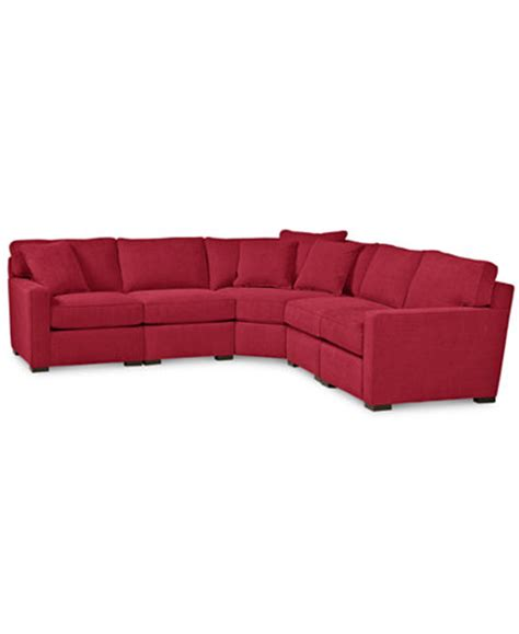 macys radley sectional radley 5 piece fabric sectional sofa custom colors