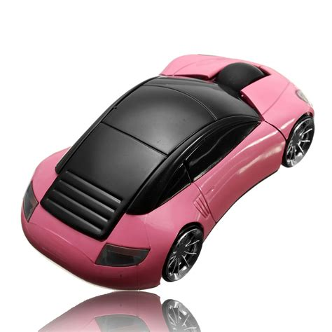 Pink Car Mouse With Led Headlights by 3d Wireless Optical 2 4g Car Shaped Mouse Mice 1600dpi Usb