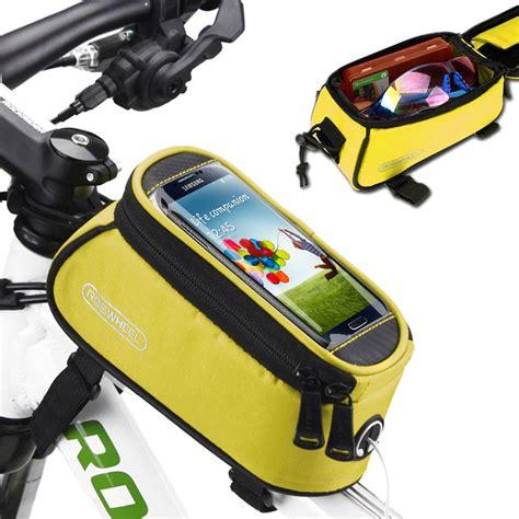 Roswheel Bike Waterproof Bag For 48 Inch Smartphone Black C201 Roswheel Bicycle Cycling Bike Frame Front Waterproof