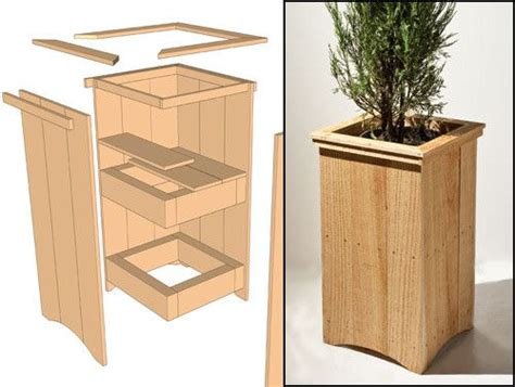 best 25 wooden planters ideas on wooden