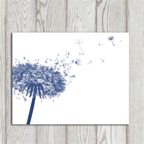 navy blue home decor dandelion decor print navy blue home decor navy bedroom decor