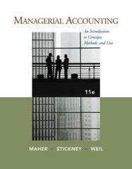 The Mba Decision Chegg by Managerial Accounting An Introduction To Concepts Methods