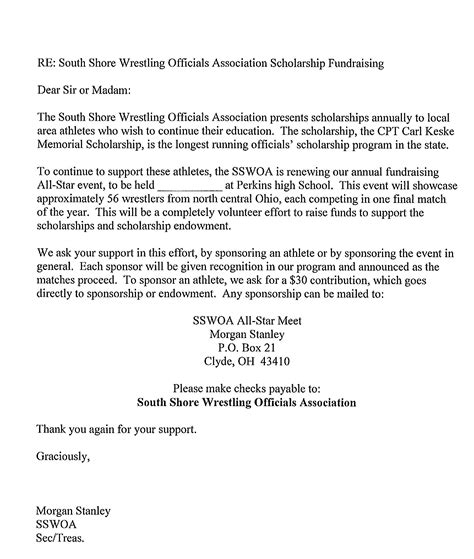 Thank You Letter For Athletic Donation Nursing Student Recommendation Letter Sle