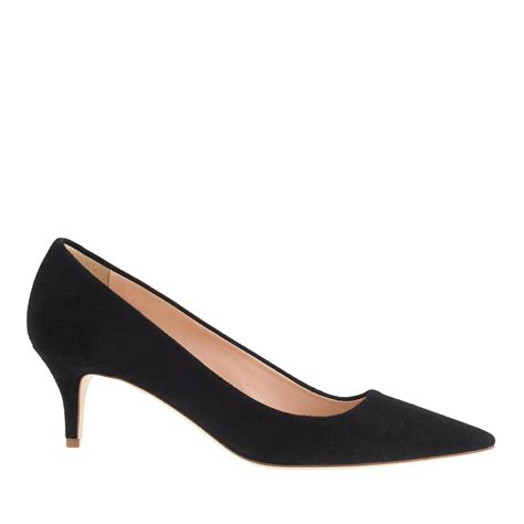 Kitten Heels Pumps j crew dulci suede kitten heels in black lyst