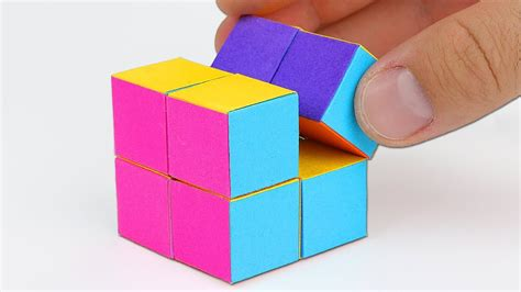 How To Make A Cube Out Of Paper Without Glue - how to make an infinity cube out of paper