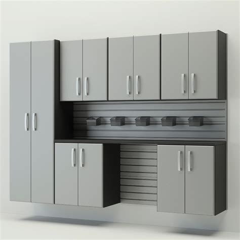 flow wall garage cabinets flow wall 7 pc cabinet set silver tools garage