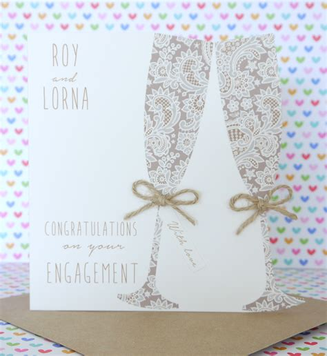 Handmade Creative Cards - personalised handmade engagement card creative handmade